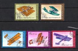 Avions URSS (55) Série Complète De 5 Timbres Oblitérés - Avions