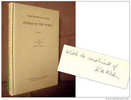 """GEOGRAPHICAL GUIDE To FLORAS Of The WORLD"" S.F. BLAKE Signé Signed Flore Plante Plant Botanique Botanic 1942 ! - Sciences Biologiques"