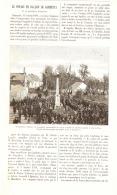 """LE VOYAGE EN BALLON DE """" GAMBETTA """"  Et Le Monument D'EPINEUSE  1889 - Ile-de-France"""