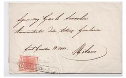 ITALIE -- LOMBARDO VENETIE --1851-- LETTRE A DESTINATION DE MILAN --VARIETE -- - Lombardy-Venetia