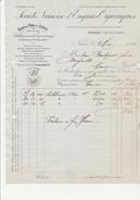 FACTURE  - SOCIETE NIMOISE D'ENGRAIS ORGANIQUES -USINE DU PONT DE JUSTICE PRES NIMES - ANNEE 1914 - Agriculture