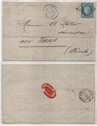 Lettre (LAC) Adressée De VALREAS (Vse) A LES VANS (Ardèche) - GC 4092 Sur Yvert 60   (95696) - Marcophilie (Lettres)
