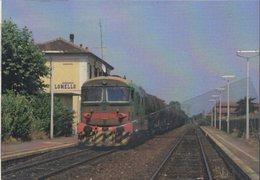 269 FS D 345.1115 Lomello Pavia Rairoad Treain Cargo Railweys Treno Merci Savigliano Lombardia - Gares - Avec Trains