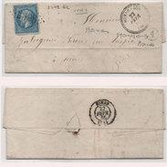 Lettre (LAC) Adressée De MONDRAGON (Cachet Perlé Et A Dans Un Cercle = MORNAS ) A NIMES - GC 2398 Sur Y.22   (95698) - Marcophilie (Lettres)