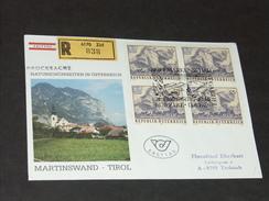 FDC Ersttag 13.6.1986: Naturschönheiten In Österreich - Martinswand, Tirol RECO - FDC