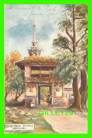 KASHMIR, INDE - BIJBEHARA TEMPLE - ANIMATED - TRAVEL IN 1909 - THE AQUARELLE SERIES No 2008 - - Inde