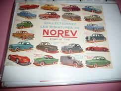 BUVARD Publicitaire  BLOTTING PAPER Miniatures NOREV Voitures - Buvards, Protège-cahiers Illustrés