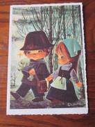 Carte Postale Double à Volet -  MEILLEURS VOEUX  -  écrite - Anno Nuovo