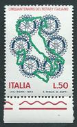 Italia, Italy 1973; Rotary Italiano. Francobollo Di Bordo Inferiore, Nuovo. - Rotary, Lions Club