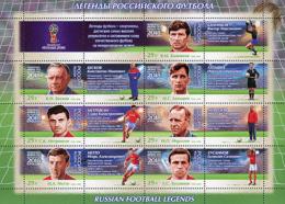 Russia 2016  Soccer - Football WC 2018 Legends Of Russian Football Sheet MNH - Copa Mundial