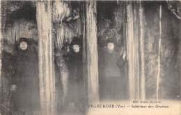 83 - VAR / Villecroze - Intérieur Des Grottes - Animée - France