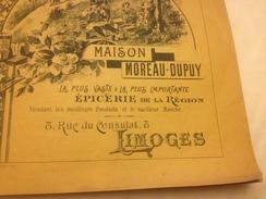 CATALOGUE, MAISON MOREAU DUPUY, LIMOGES, 1894, 8 Rue Du Consulat - Advertising