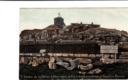 Centre De La France L'Observatoire Du Puy De Dôme Et Les Ruines Du Temple De Mercure Cpa Circulée En 1907 Bon état - Other Municipalities