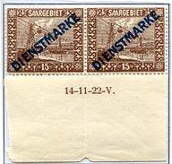 C5 Sarre Saar Service Dienstmarke Mi 4 ** Coin Daté - Zone Française
