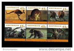 AUSTRALIA - 1994  KANGAROOS AND KOALAS  BLOCK  MINT NH - Nuovi