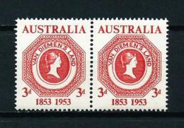 Australia  Nº Yvert  206 (pareja Horizontal)  En Nuevo - 1952-65 Elizabeth II: Dezimalausgaben (Vorläufer)