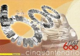 [MD0656] CPM - FIAT 600 CINQUANTENARIO - CON ANNULLO 19.3.2005 - NV - Cartoline