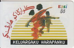 BRUNEI - Keluargaku Harapanku, DST Recharge Card $5, Exp.date 17/05/15, Used - Brunei