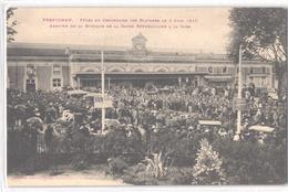 FR66 PERPIGNAN - Labouche - Fête Du Centenaire Des Platanes - 5 Juin 1910 - La Garde Républicaine à La Gare - Superbe - Perpignan