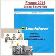 """Jeu Leuchtturm Feuilles Complémentaires SF France Blocs """"Souvenir Philatélique"""" - Non Classificati"""
