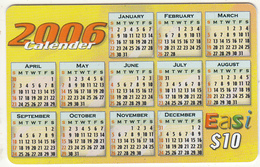 BRUNEI - Calendar 2006, DST Recharge Card $10, Exp.date 31/01/07, Used - Brunei