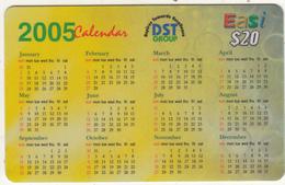 BRUNEI - Calendar 2005, DST Recharge Card $20, Exp.date 04/01/08, Used - Brunei