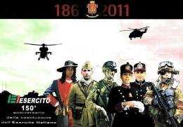 [MD0658] CPM - ESERCITO 150° ANNIVERSARIO DELLA COSTITUZIONE DELL'ESERCITO ITALIANO - CON ANNULLO 4.5.2011 - NV - Militari