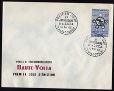Upper Volta: FDC First Day Cover, 1960, 1 Stamp, CCTA Cooperation, Map (traces Of Use) - Opper-Volta (1958-1984)