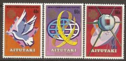 Aitutaki 1983 Mi# 496-498 A ** MNH - World Communications Year / Space