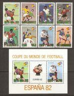 Zaire 1981 Mi# 722-729, Block 40 ** MNH - World Cup Soccer Championship, Spain - Zaïre