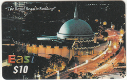 BRUNEI - The Royal Regalia Building, DST Recharge Card $10, Exp.date 31/08/07, Used - Brunei