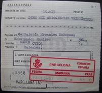 ATAM SIN CORTES DE SEGURIDAD EN DOCUMENTO - MAQUINAS Nº 9 - BARCELONA (Q091) - Oblitérés