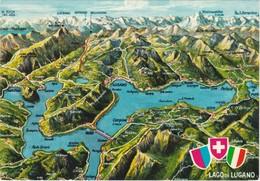 Cartolina - Postcard -   Lago Di Lugano -- Svizzera - Suiza