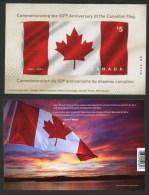 Canada, 2015,#2808 MNH, Drapeau, Flag  $5.00 Stamp, Fabric Stamp, - Blocks & Sheetlets