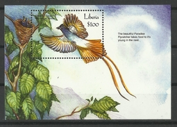 LIBERIA  2000  ORIENTAL PARADISE FLYCATCHER  MS   MNH - Non Classificati