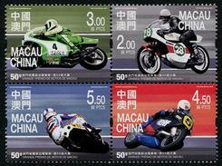 MACAU 2016 - 50e Ann Du Grand Prix Moto De Macau - 4 Val Neufs // Mnh - 1999-... Chinese Admnistrative Region
