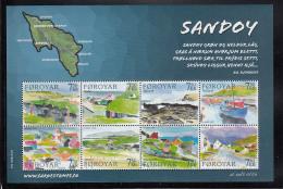 Faroe  Islands MNH 2006 #477 Sheet Of 8 Views Of Sandoy Island - Féroé (Iles)