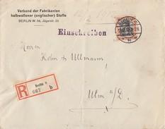 DR R-Brief EF Minr.89Ix Berlin 12.12.12 Gel. Nach Ulm Geprüft - Deutschland