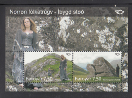 Faroe  Islands MNH 2008 #500 Sheet Of 2 Mythical Places - Féroé (Iles)