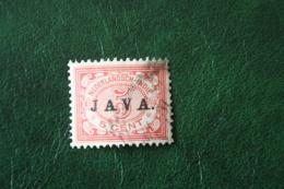 JAVA Overprint Cijfer 5 Ct NVPH 68 1908 Gestempeld / USED NEDERLANDS INDIE / DUTCH INDIES - Nederlands-Indië