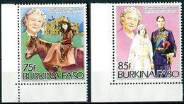 "BURKINA  FASO  1985  MNH   -  "" 85e ANNIVERSAIRE REINE VICTORIA ""  -   2  VAL - Burkina Faso (1984-...)"
