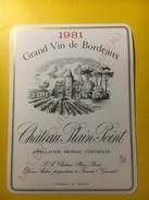 3478 - Château Plain-Point 1981 Fronsac - Bordeaux