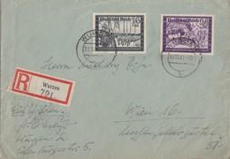 DR R-Brief Mif Minr.776,778 Wurzen 10.10.41 Gel. Nach Wien - Briefe U. Dokumente