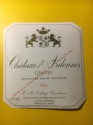 3483 - Château D'Ardennes 1982  Graves - Bordeaux