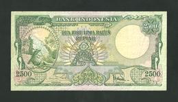 Indonesia 2500 Rupiah  1957  P- 54 Almost XF *** RARE *** - Indonesien