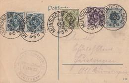 DR GS Minr.DP13/03 Zfr. Württemberg Minr.151,155,2x 157 Münsingen 14.12.22 - Dienstpost