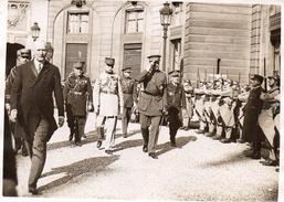 7Mé   Grande Photo (18cmx13cm) Reception Roi Des Belges à L'Elysée Clemenceau Petain ...? - Events