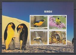 Cabo Verde 2016,4V In Block,IMP,birds,vogels,vögel,oiseaux,pajaros,uccelli,aves,MNH/Postfris(L3023) - Oiseaux