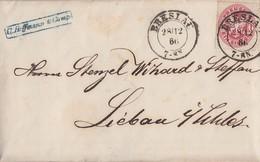Preussen Brief EF Minr.16 K2 Breslau 28.12.66 Gel. Nach Liebau - Preussen