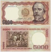 PERU - RARE 1st DATE 5000 SOLES NOTE P-117a 1976 - UNC - Pérou